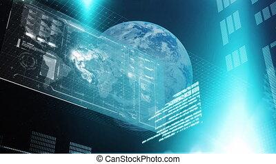 global, données, sur, earth., information