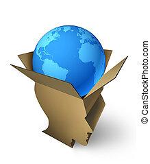 global, gestion, expédition