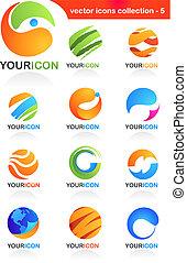 global, icônes, résumé, business