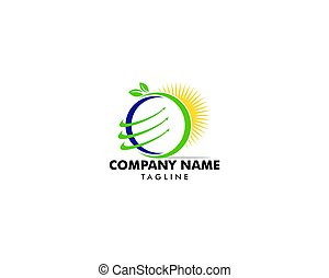 global, logo, concept, conception, nature