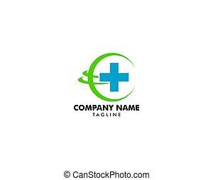 global, logo, santé, concept, conception