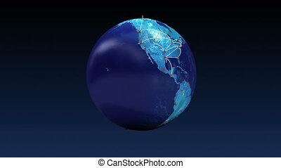 global, transport, croissant