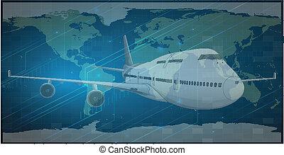 globe, avion