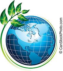 globe bleu, plante