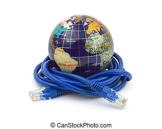 globe, câble, internet
