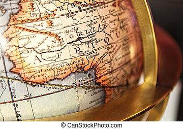 globe., gros plan, vendange