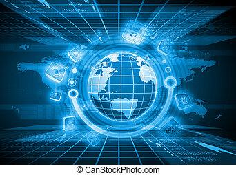 globe, image, numérique