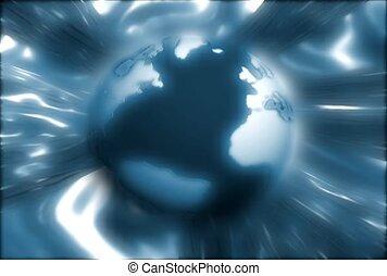 globe, liquide, atmosphère
