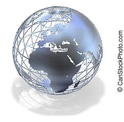 globe, métallique