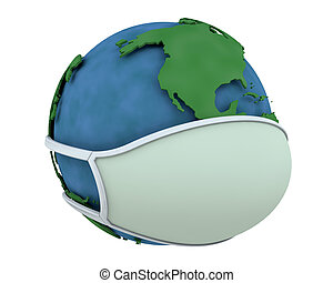 globe, masque, figure