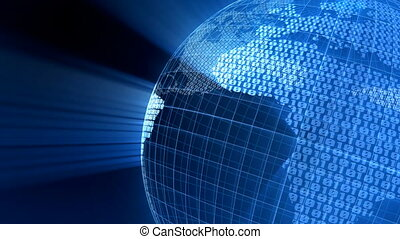 globe, numérique