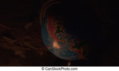 globe, plancher, rochers, haut, lot, brûlé, brûler, fin, destructed