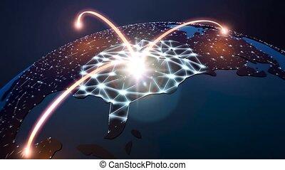 globe, réseau