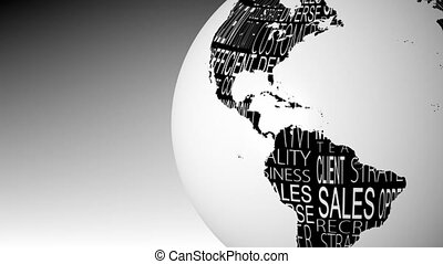 globe, rotation, business, mots