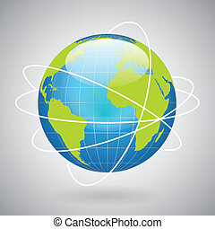 globe terre, icône