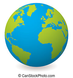 globe terre, naturel