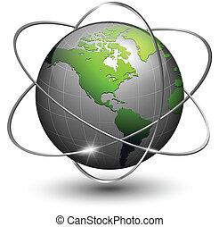 globe terre, orbites