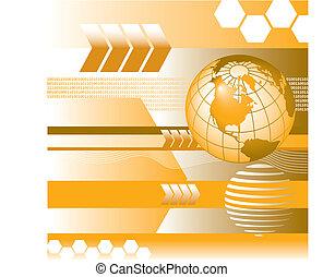 globe, vecteur, binaire, numérique