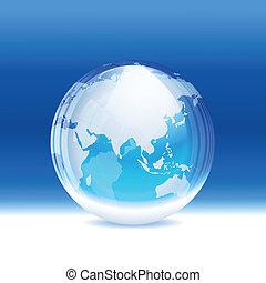 globe, vecteur, transparent, neige