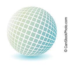 globe, vector., doux, coloré