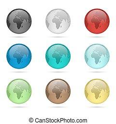 globe verre, ensemble