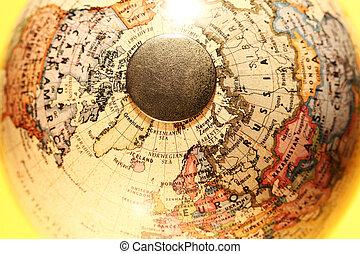 globe, vieux