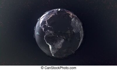 globe, vue, hd, texture, espace