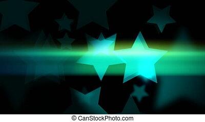 """glowing, bokeh, animation, 2d, star-shaped"""