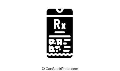 glyph, prescription, électronique, animation, icône