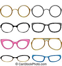 goûter, chaque, collection, lunettes
