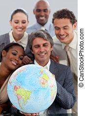 gobe, business, projection, groupe, ethnique, tenue, terretrial, bureau, diversité
