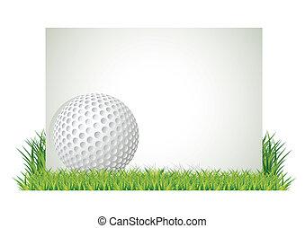 golf, bannière