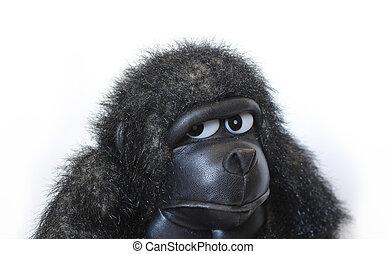 gorille bébé, jouet, adorable