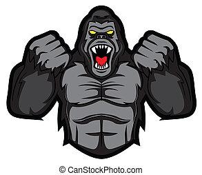gorille, fâché