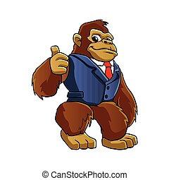 gorille, suit.