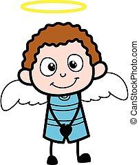 gosse, déguisement, dessin animé, ange