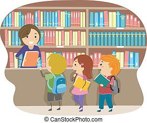 gosses, bibliothèque