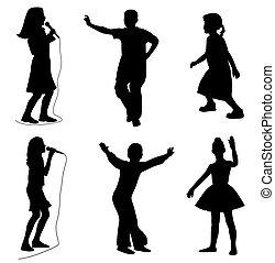 gosses, chant, danse