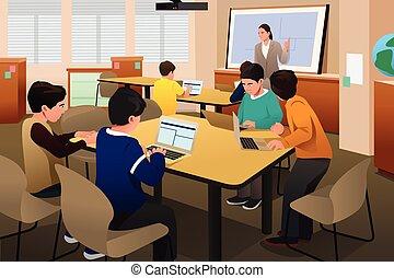 gosses, classe ordinateur