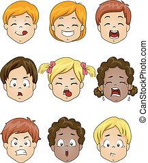 gosses, expression, facial