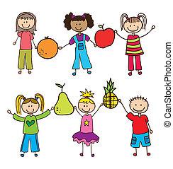 gosses, fruits