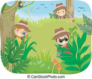gosses, jungle, aventure