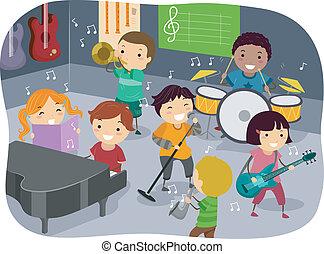 gosses, salle musique