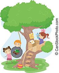 gosses, treehouse