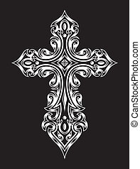 gothique, croix