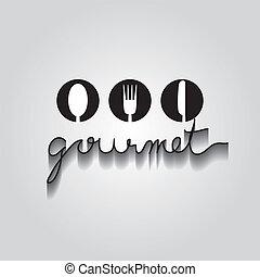 gourmet, 10, vecteur, eps, typo