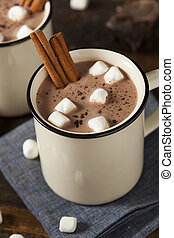 gourmet, chaud, chocolat lait