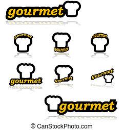 gourmet, icônes