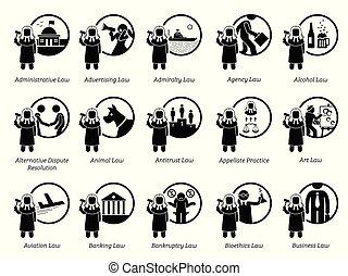 gouvernement, règles, icons., règlements, lois, type