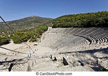 grèce antique, peloponisos, amphithéâtre, epidaurus